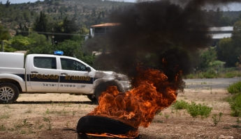 شرطة اسرائيل تقود وتدير تمرينًا يحاكي نشوب حريق في منطقة كريات عنابيم وبيت نكوفة، شاركت فيه جميع قوى الطوارئ والإنقاذ