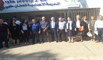 زيارة المدير العام لوزارة التربية والتعليم شموئيل أبواب لقريتيدالية الكرمل وعسفيا