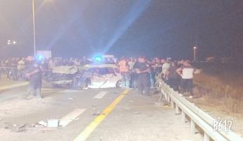 مصرع شخصين في حادث طرق مروع بين اربع سيارات بالقرب من كفر مندا