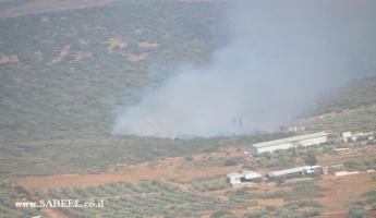 المغار : حريق هائل في المنطقة الشرقية من مرج عاصي