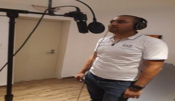 المغار: الفنان نمر ابو زيدان في عمل فني كبير خلال أيام من كلمات الشاعر كمال ابراهيم