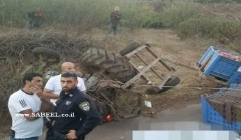 بقعاتا : مصرع الشيخ ابو غسان سلمان ابو شاهين اثر انقلاب تراكتور