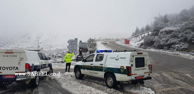 استعدادات شرطة إسرائيل وجهوزيتها للعاصفة المرتقبة واهم توصياتها للجمهور اثر العاصفة