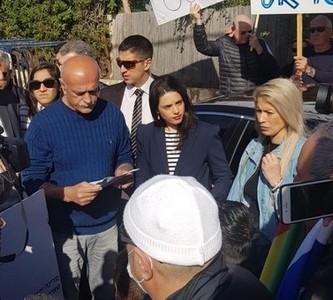 وزيرة القضاء اييلت شاكيد ترفض بعنجهية مطلب نشطاء ومنظمي المجلس الدرزي لتعديل قانون القومية