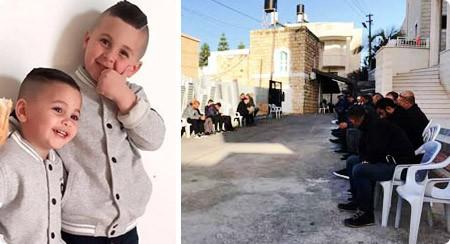 وفاة الطفلين محمد ومعاوية صرصور واصابة 3 آخرين نتيجة حريق شب في منزل في كفر قاسم
