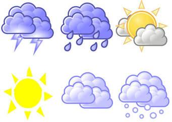 أحوال الطقس المتوقعة اليوم وحتى مطلع الاسبوع القادم