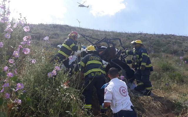 ثلاثة قتلى واصابة خطيرة في انقلاب تراكترون في منطقة الجلبوع