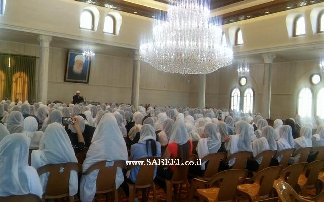 نساء جمعية المناهل في زيارةٍ  لمقام سيدنا شعيب عليه السلام